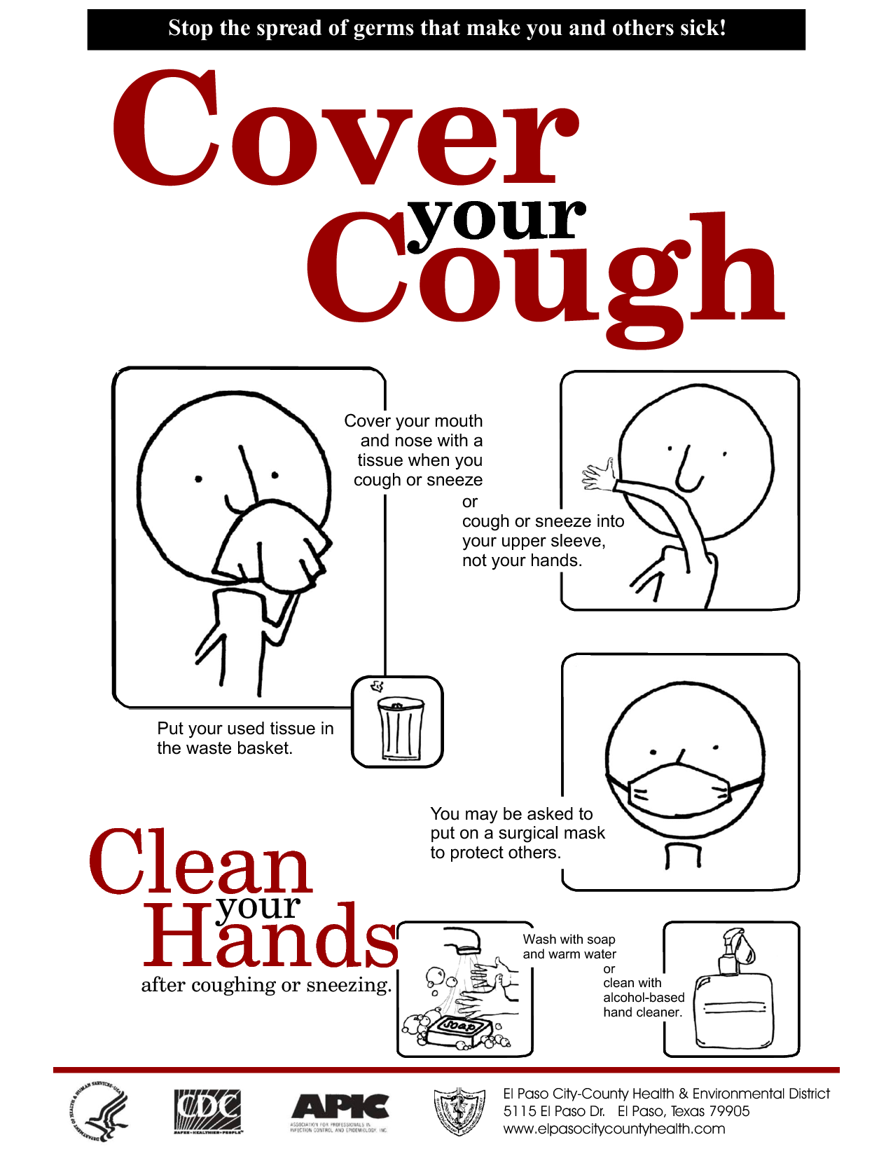 Covering Cough Colouring Pages