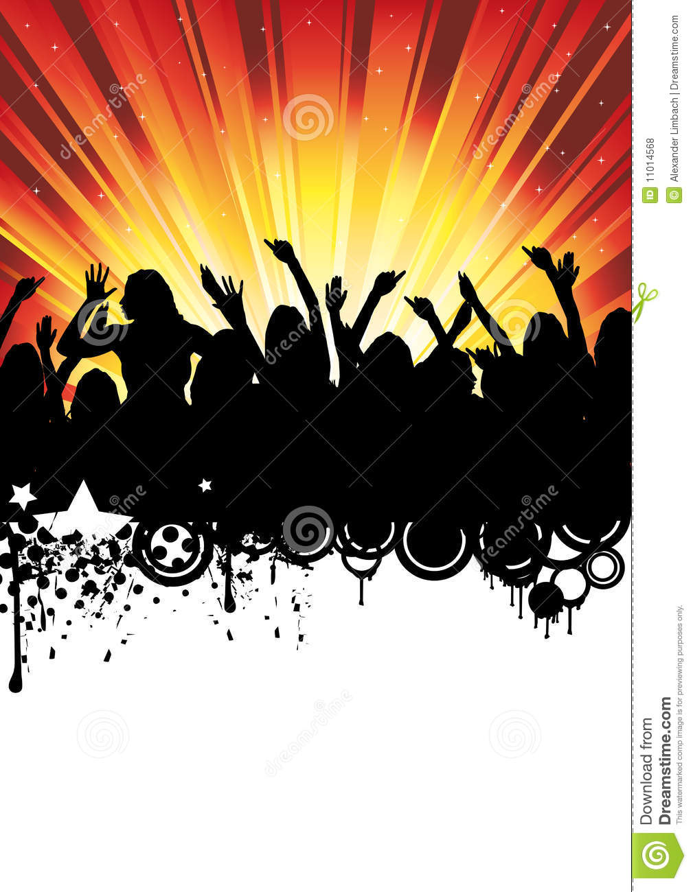 Disco Music Party Flyer Dancing People Royalty Free Stock Photos