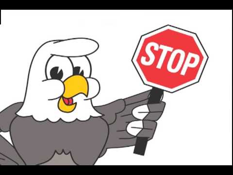 Eagle Mascot Funny Cartoon Clip Art   Youtube