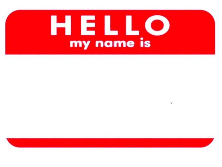 Hello My Name Is Name Tag Template