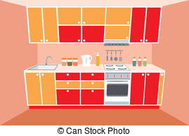 Kitchen Counter Illustrations And Clipart  1156 Kitchen Counter