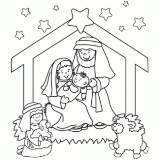 Lds Christmas Nativity Clipart