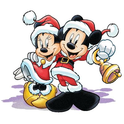Mickey And Minnie Mouse   Christmas Clip Art Images   Disney