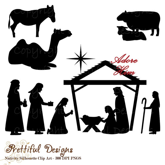 Nativity Silhouette Clip Art Images   Pictures   Becuo
