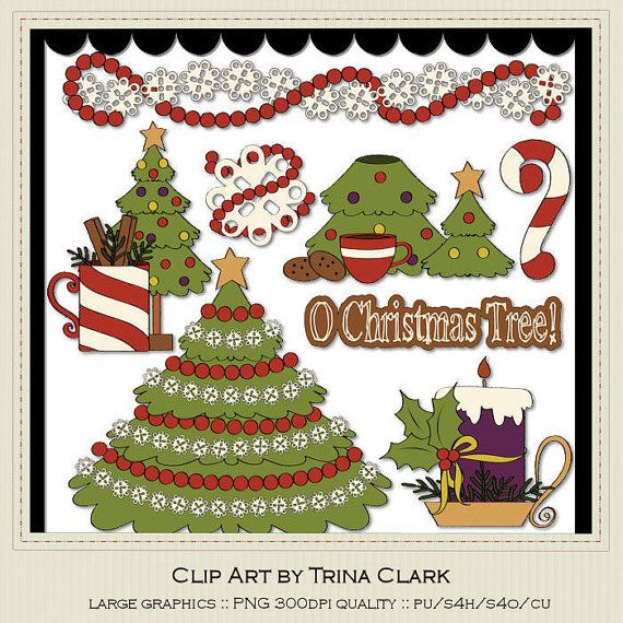 Oh Christmas Tree 2 Clip Art By Trina Clark By Marlodeedesigns  1 35