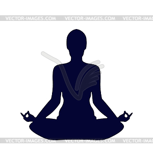 Pose Yoga Silhouette   Color Vector Clipart