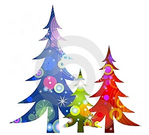 Retro Christmas Trees Clip Art Thumb3440188 Jpg