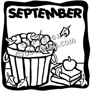 September Clipart Black And White Images   Pictures   Becuo
