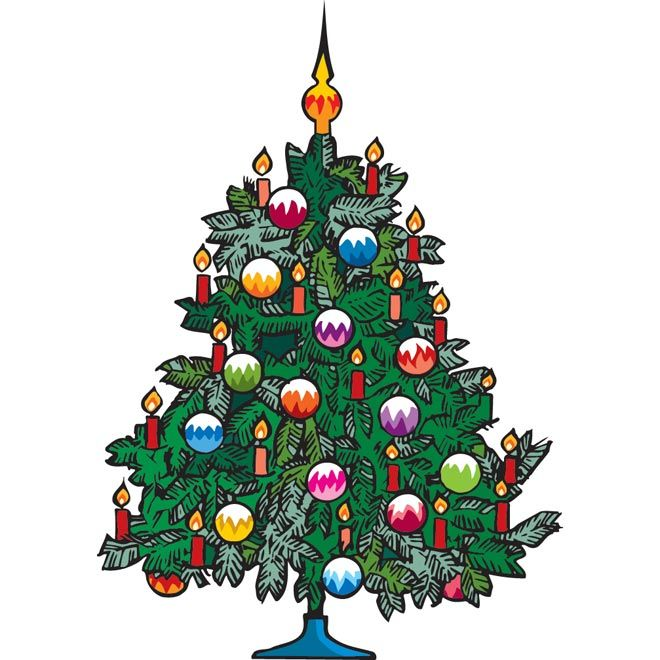 Vector Christmas Gift Tree Clip Art   Marry Chrismis Vector Graphics
