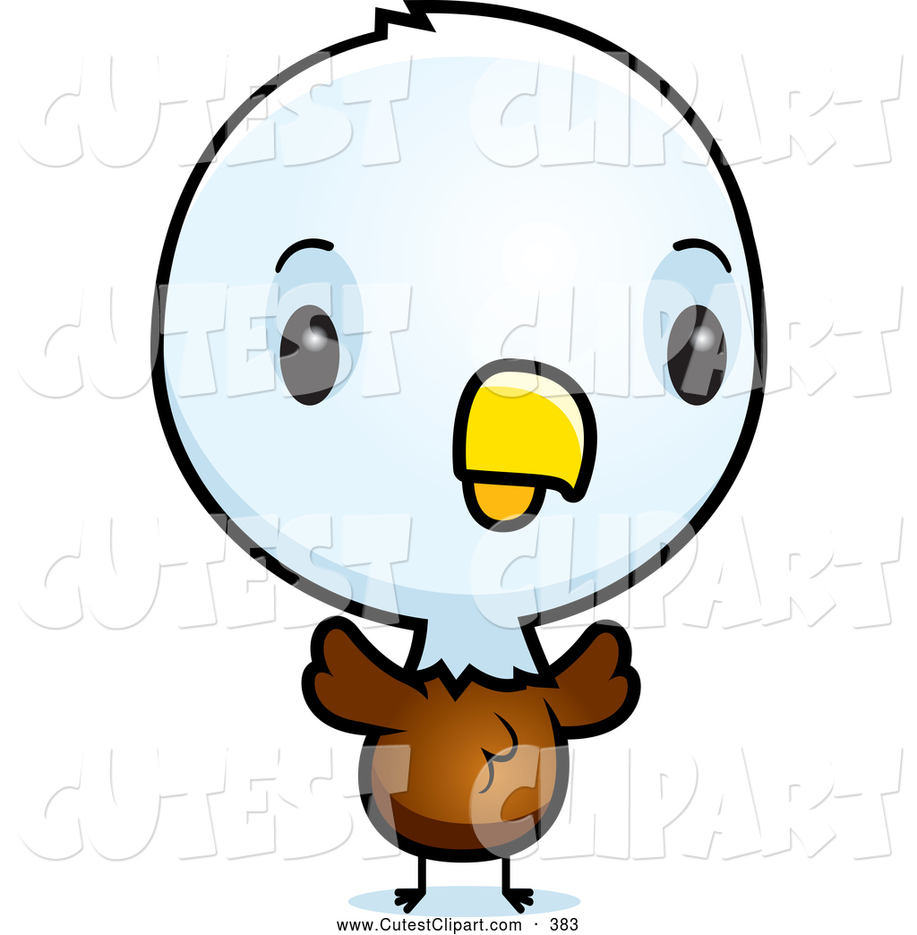 Vector Clip Art Of A Baby Bald American Eagle Chick By Cory Thoman