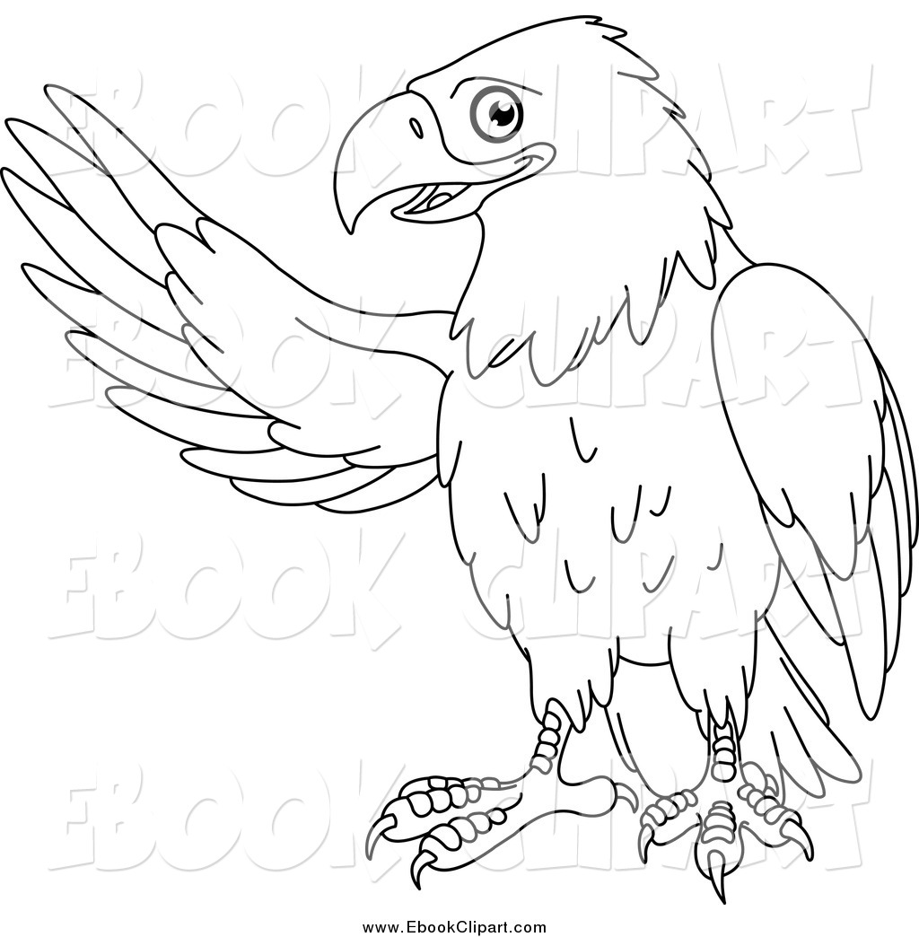 Vector Clip Art Of A Black And White Presenting Eagle By Yayayoyo