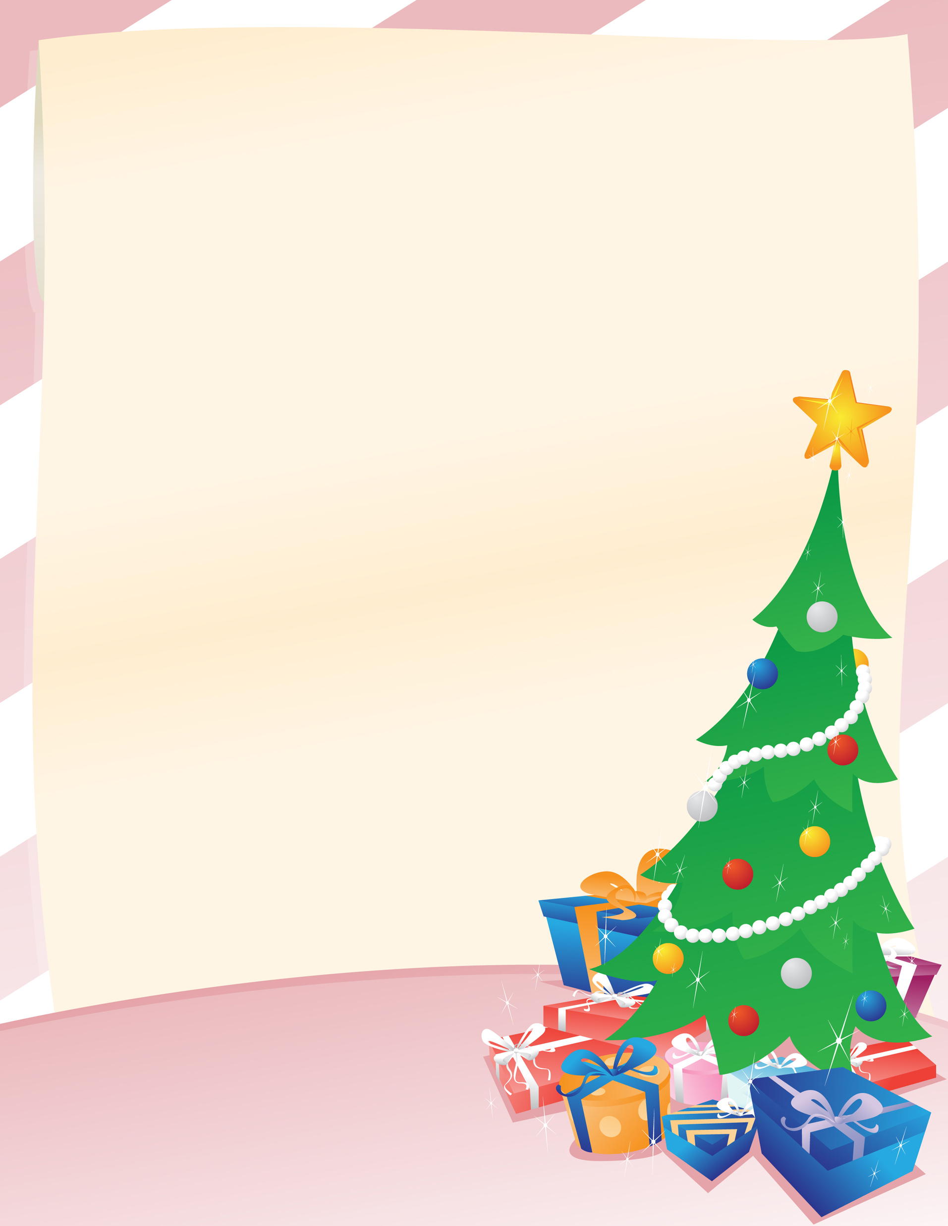 White Blue Orange Red Purple Christmas Holiday Greeting Flyer