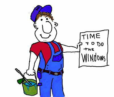 Window Cleaning Cartoons For Downloads