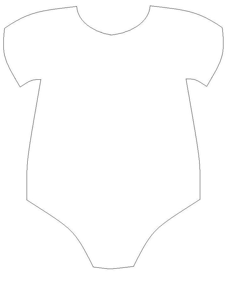 Onesie Outline Clipart Clipart Kid – Onesie Template