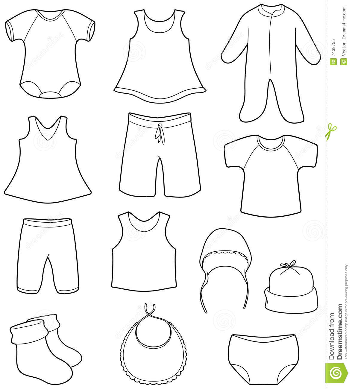 Onesie Outline Clipart - Clipart Suggest