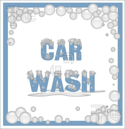 Car Wash Soap Bubbles Clip Art Car Wash Poster Covered In