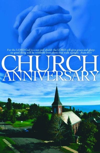 Church Anniversary  Psalm 84 11    Regular Size Bulletin 50 Pak