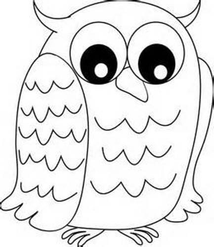Owl Outline Clip Art – Cliparts