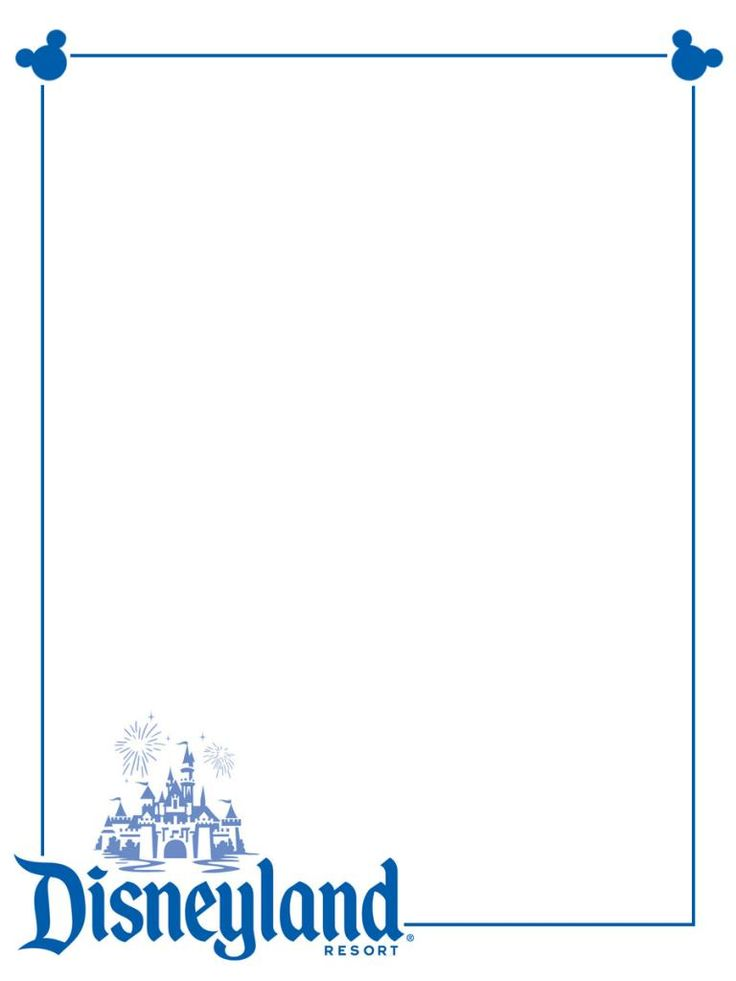 Disneyland  Blue Castle Logo    Project Life Disney Journal Card