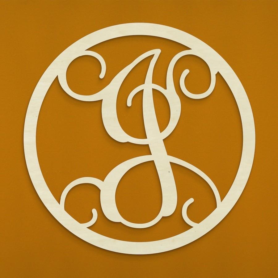 """12"""" Wood Letter Vine Monogram: J [AB2205] - CraftOutlet.com"""