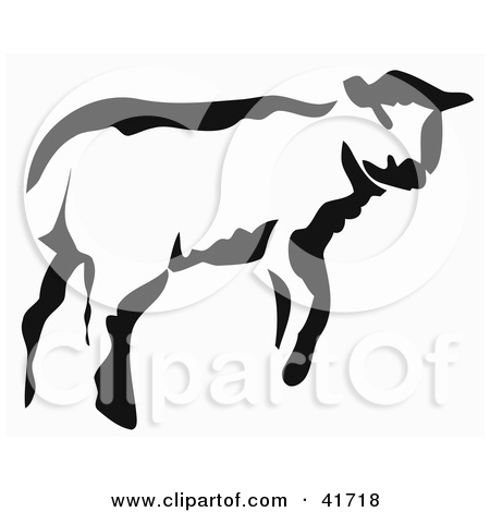 Of A Black And White Paintbrush Stroke Styled Calf Or Lamb By Prawny