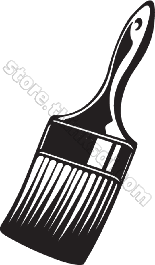 Paint Brushclipart Black And White