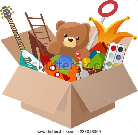 Toy Box Clipart Toy Box With Teddy Bear