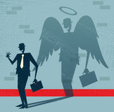 Abstract Businessman Is Angel In Disguise  Stock Images