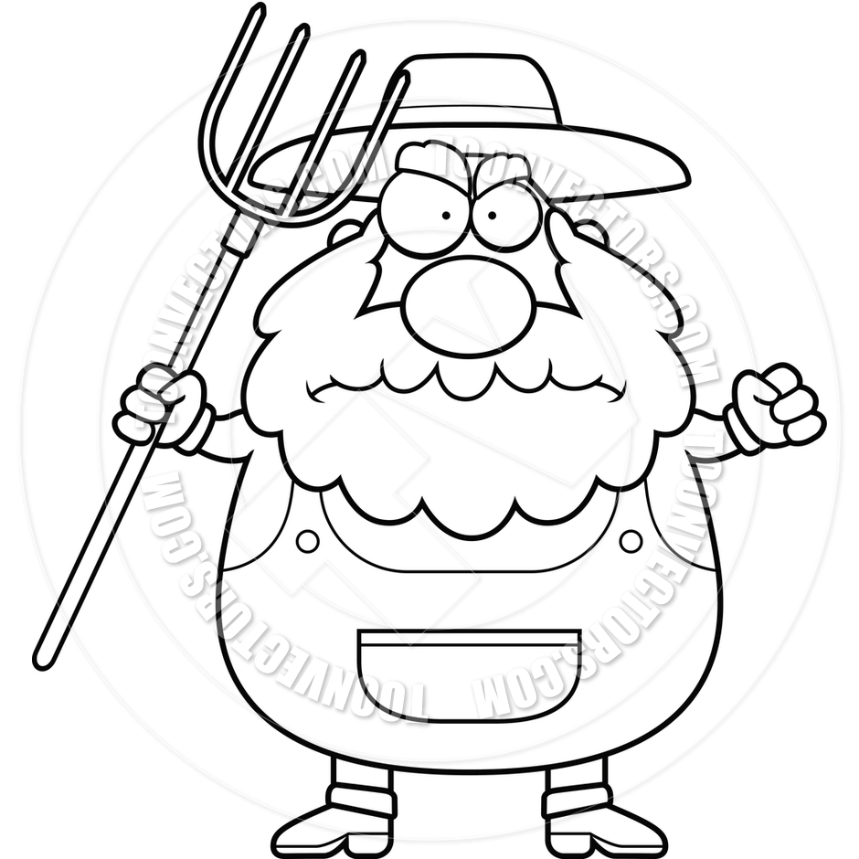 Black And White Clip Art Of Old Farmer Pictures to Pin on ...