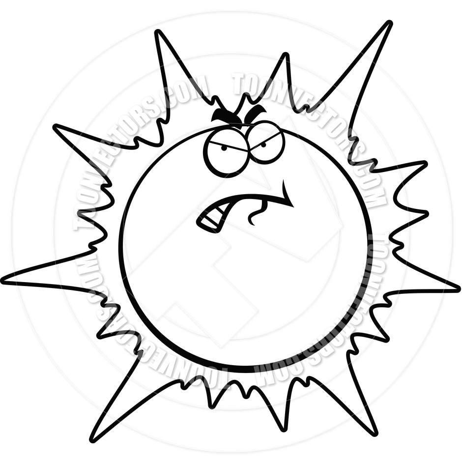 Line Drawing Sun : Angry line clipart suggest