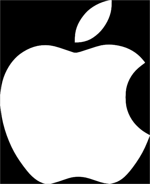 Apple Logo On Black Background Clip Art At Clker Com   Vector Clip