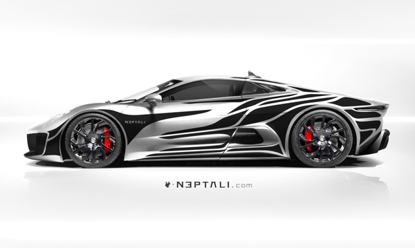 Cars Graphics Ferrari F Concept Black And White Pictures