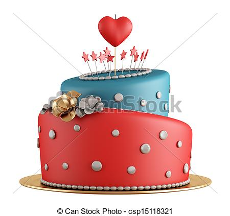 Red Cake Clipart : Red Birthday Cake Clipart - Clipart Suggest