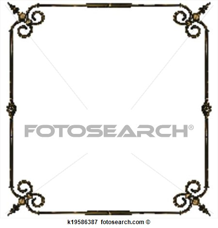 Wrought Iron Frame Clipart - Clipart Kid