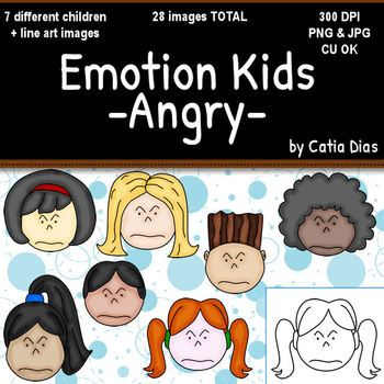Emotion Kids   Angry   Facial Expressions Clipart
