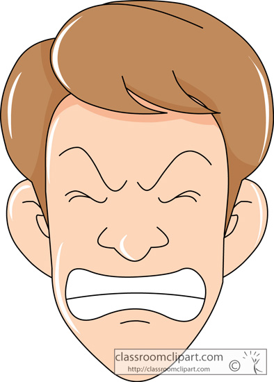 Facial Expressions   Frustrated Expression 226 3   Classroom Clipart