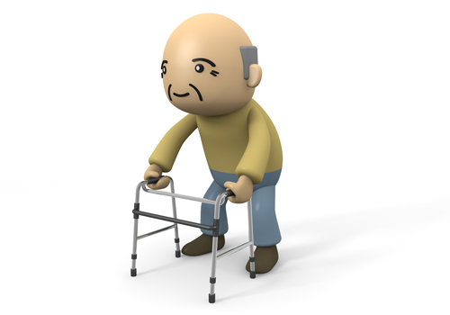 Grandfather   Walking Aid   Useful   Illustration   Free Material