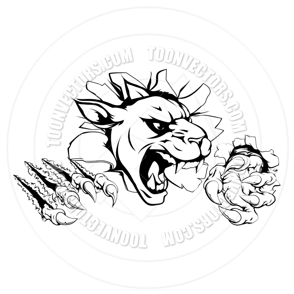 Panther claw mark logo - photo#54