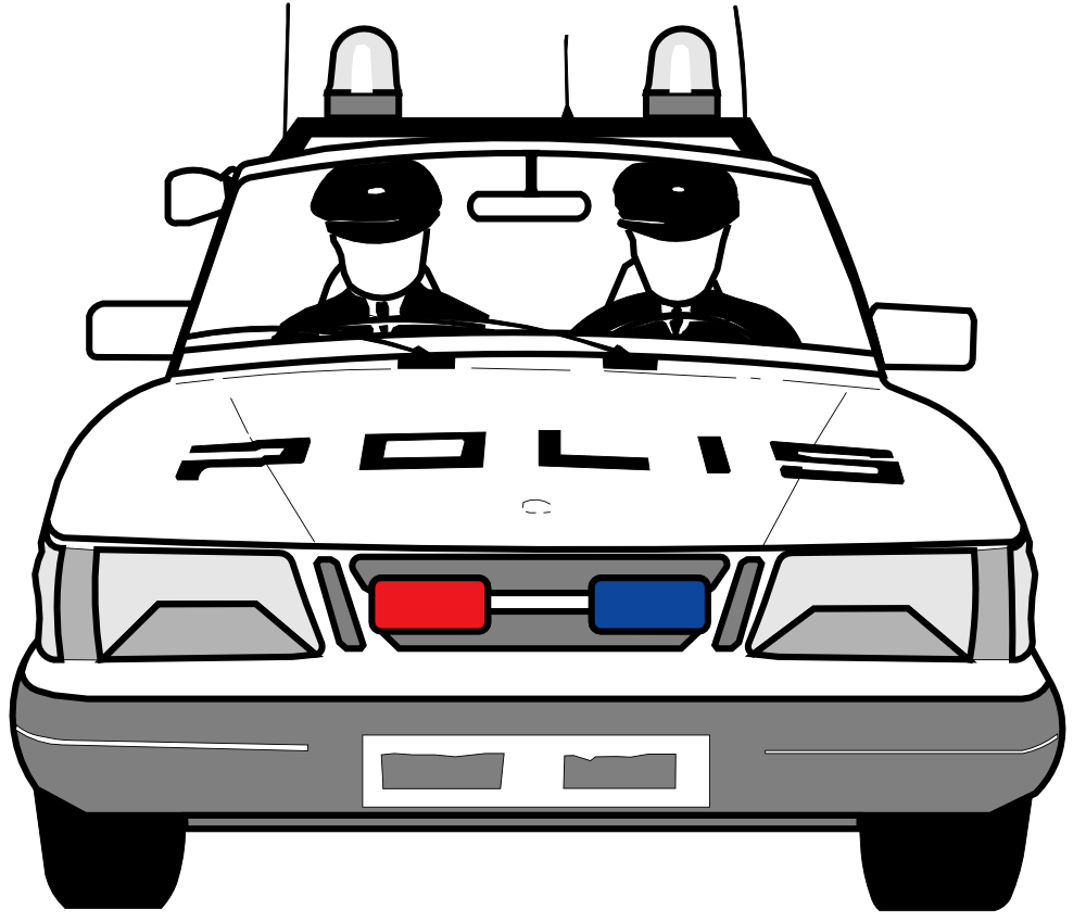 Police Car Clipart Black And White   Vehicle Pictures