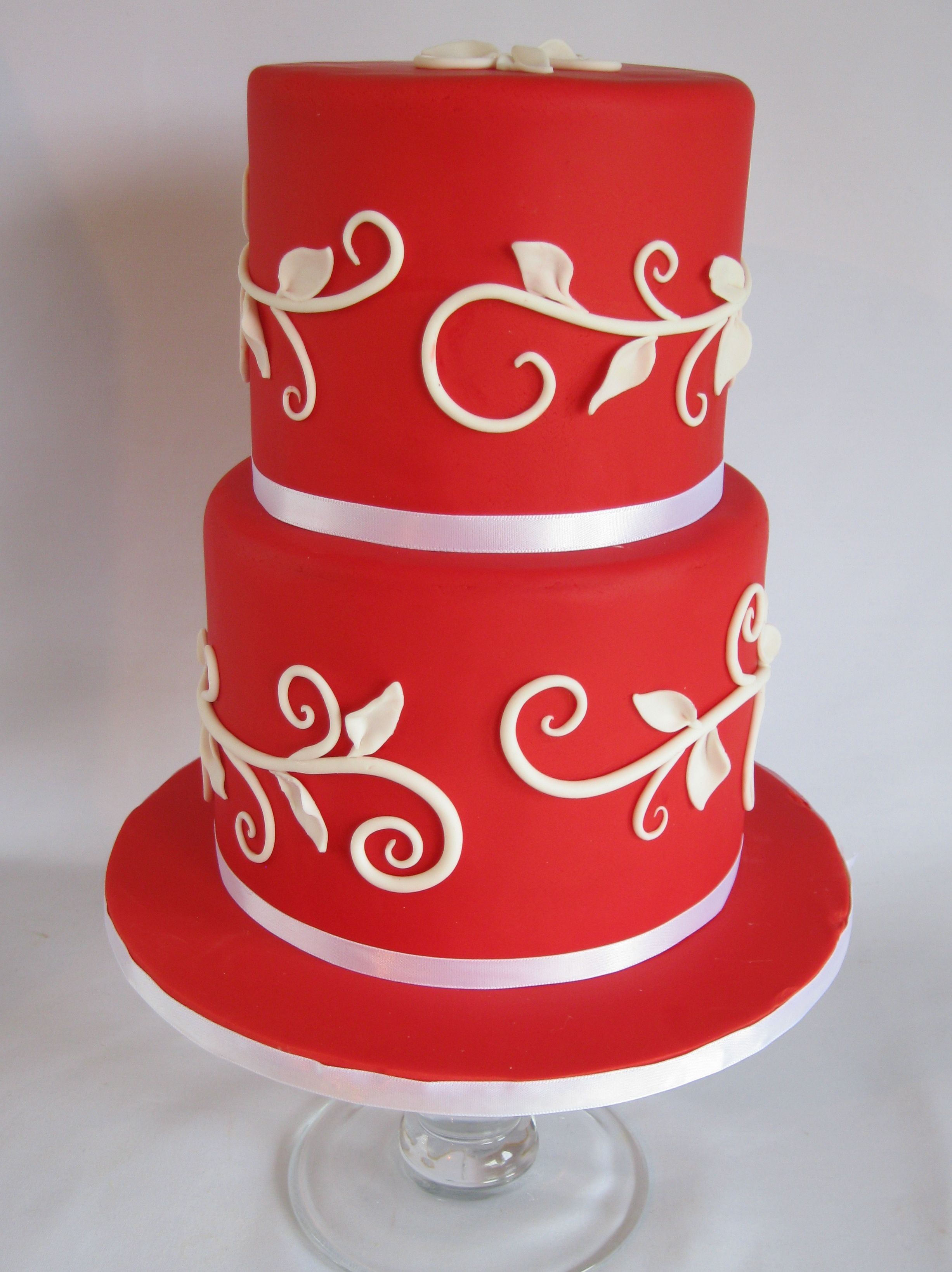 Red Birthday Cake Red Vine Cake Birthday Cakes