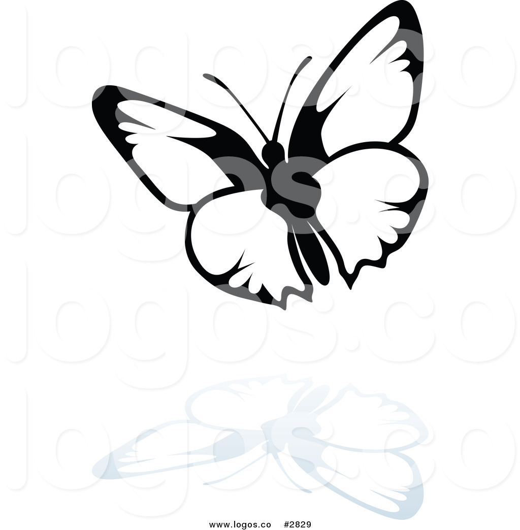Royalty Free Black And White Butterfly Logo By Dero 2829 Jpg