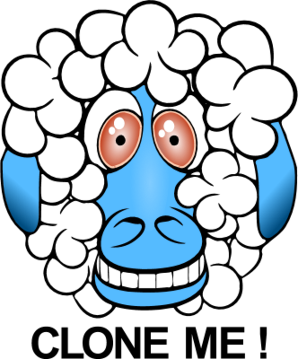 Sheep Funny And Smiling   Vector Clip Art