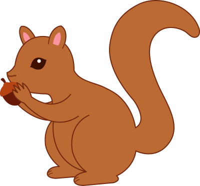 Squirrel Running Clipart Cute Squirrel Drawingcartoon Squirrel Clipart