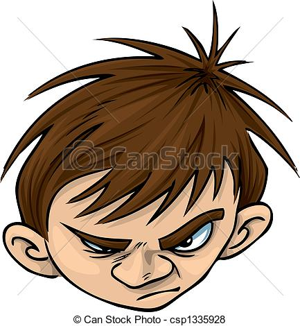 Stock Illustration Of Angry Kid Csp1335928   Search Eps Clip Art