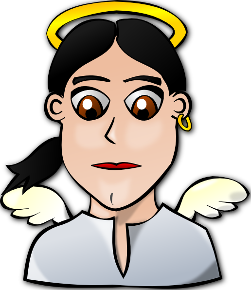 Angel Face Cartoon Clip Art At Clker Com   Vector Clip Art Online