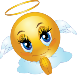 Angel Female Smiley Emoticon Clipart   Royalty Free Public Domain