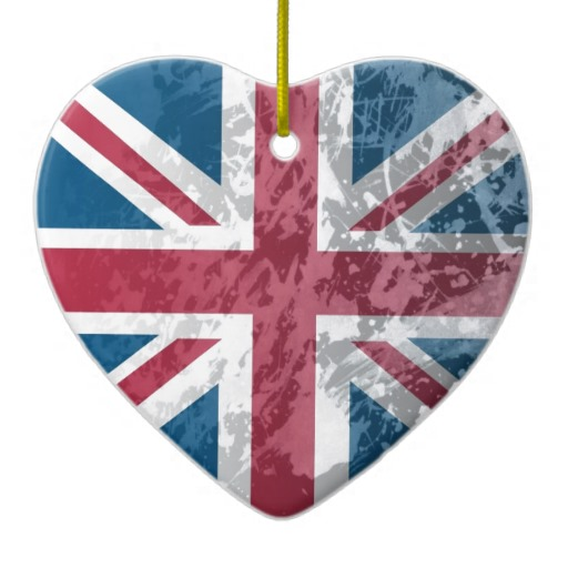 British Flag  Uk Great Britain Or England  Christmas Tree Ornaments