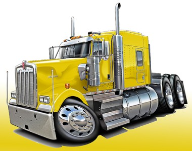 Cab Over Semi Truck Clip Art