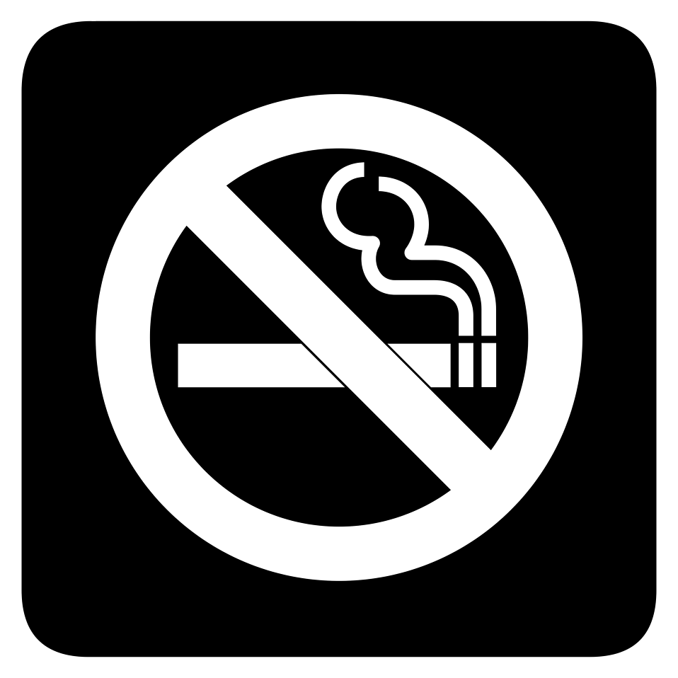No Smoking Black And W...