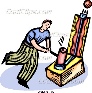 Man Playing Carnival Games Vector Clip Art